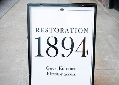 Elevator Guest Entrance at Restoration 1894